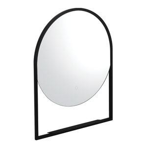 Frame 600 Round LED Mirror with Shelf