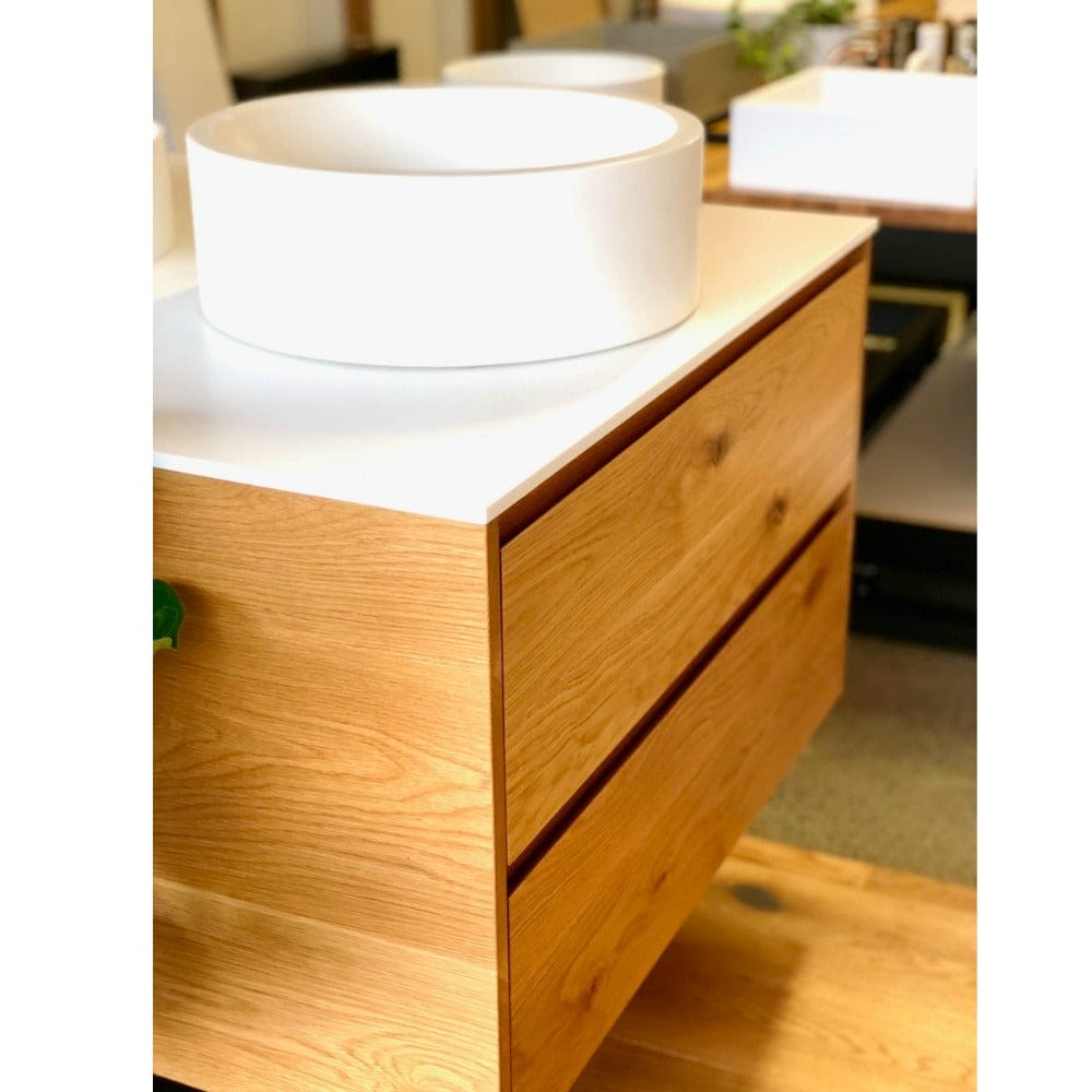 * Rose & Stone - Rustic American Oak vanity with Corian top - 1500mm