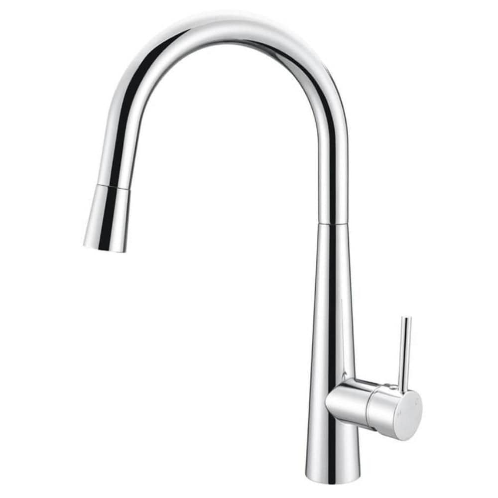 Meir Round Kitchen Mixer with Pull Out Spout - Chrome