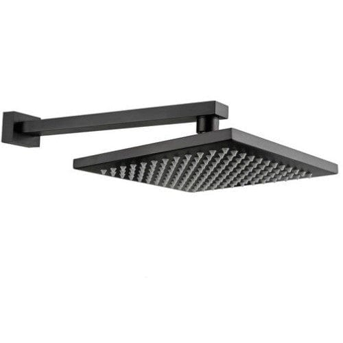 Meir Square Wall Shower Head & Arm | Black