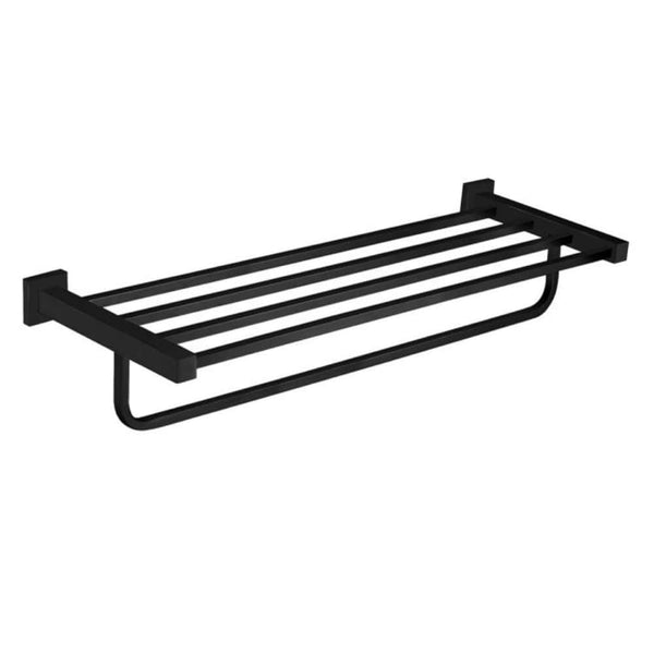* Meir Black Multi Towel Rail Rack