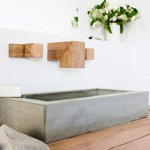 Wood Melbourne Concrete Vessel Basin - Maddie