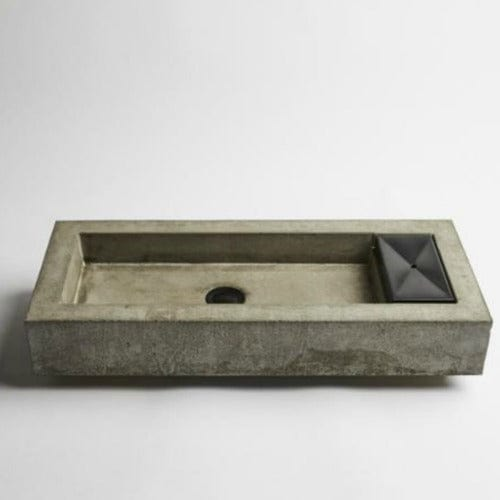 Wood Melbourne Concrete Vessel Basin - Zoe - Black