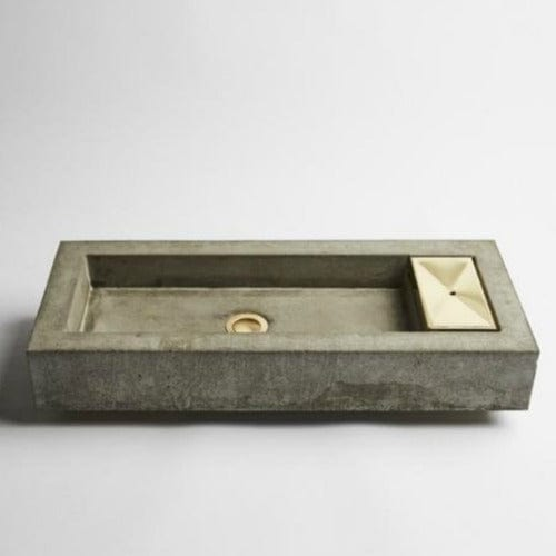 Wood Melbourne Concrete Vessel Basin - Zoe - Brass