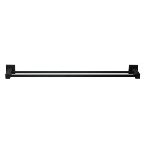 Black square towel rail