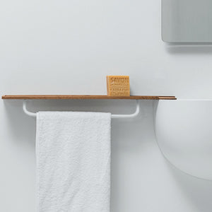 Falper Lavamani Timber Shelf with Towel Rail