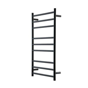 Genesis Nero Heated Towel Rail - Black - 1025 x 600mm - Heirloom