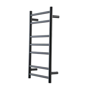 Genesis Nero Heated Towel Rail - Black - 825  x 450mm - Heirloom