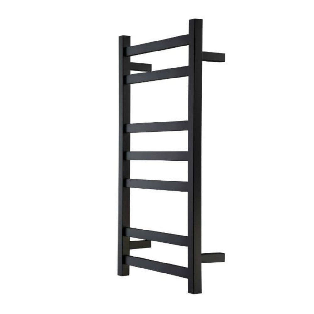Studio 1 Noir Heated Towel Rail - Black - 825 x 450mm - Heirloom
