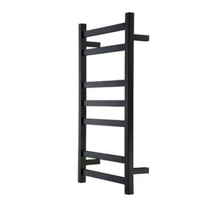 Heirloom Studio 1 825 Slimline Heated Towel Ladder - Black