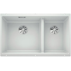 Blanco Silgranit Subline 430/270-U Undermount Double Bowl - White
