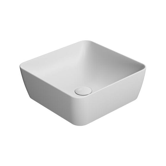 Astra Walker Pura 380 Square Vessel Basin | Matte White