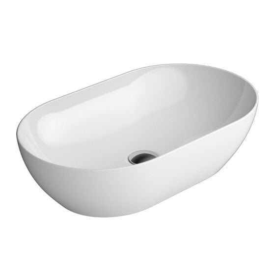 Astra Walker Pura 600 Extra Wide Oval Vessel Basin | Gloss White