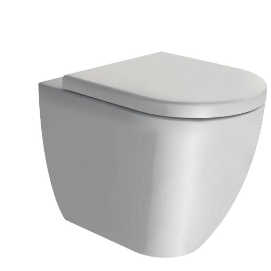 Astra Walker Pura Floor Mounted Swirlflush Toilet with Thick Seat | Matte White