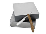 KING`S CROWN™ Carbon Steel STRAIGHT RAZOR - Olive Wood