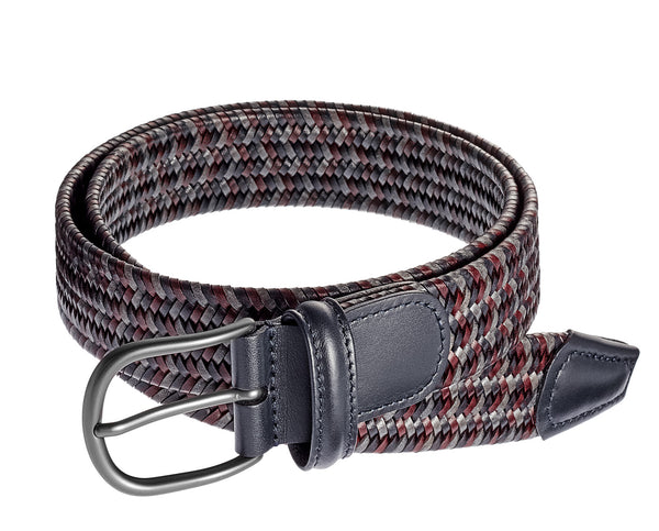 Anderson's Belt - Red and Blue Multi Leather