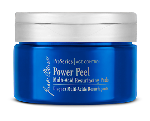 JACK BLACK Power Peel Multi-Acid Resurfacing Pads in a blue package