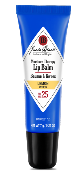 Jack Black Intense Therapy Lip Balm SPF 25 lemon flavour in a blue package