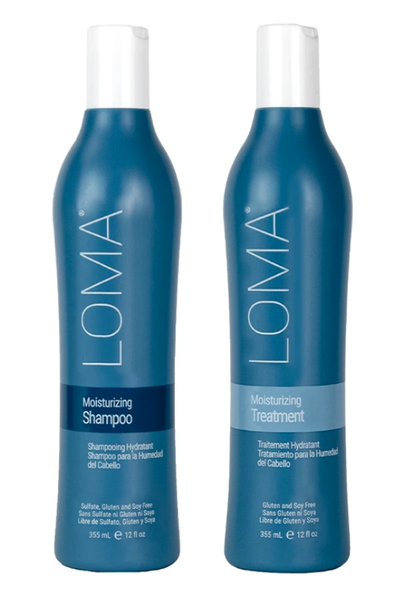 LOMA Organics hair products - Moisturizing Shampoo & Conditioner