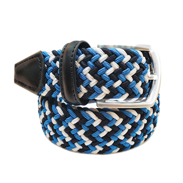 Anderson´s Belt – Blue Multi Woven made in Italy. Available at King´s Crown, Toronto.