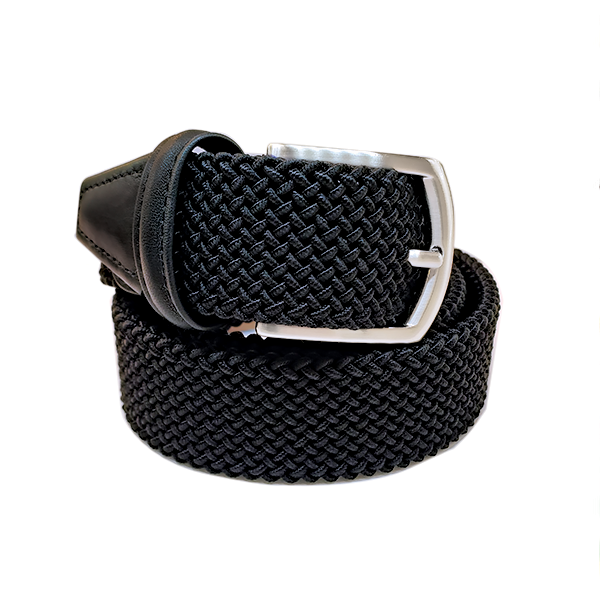 Anderson´s Belt - Black Woven made in Italy. Available at King´s Crown, Toronto.