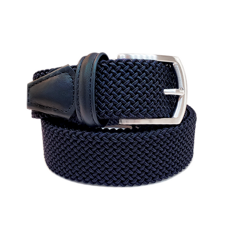 Anderson´s Belt - Dark Blue Woven made in Italy. Available at King´s Crown, Toronto.