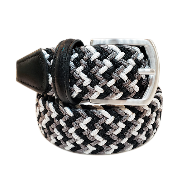 Anderson´s Belt - Grey and Black Multi Woven