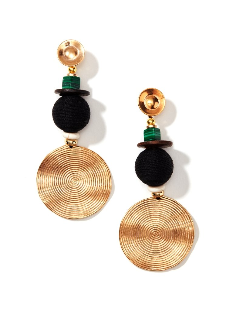 Gold Spiral Dangle Earrings