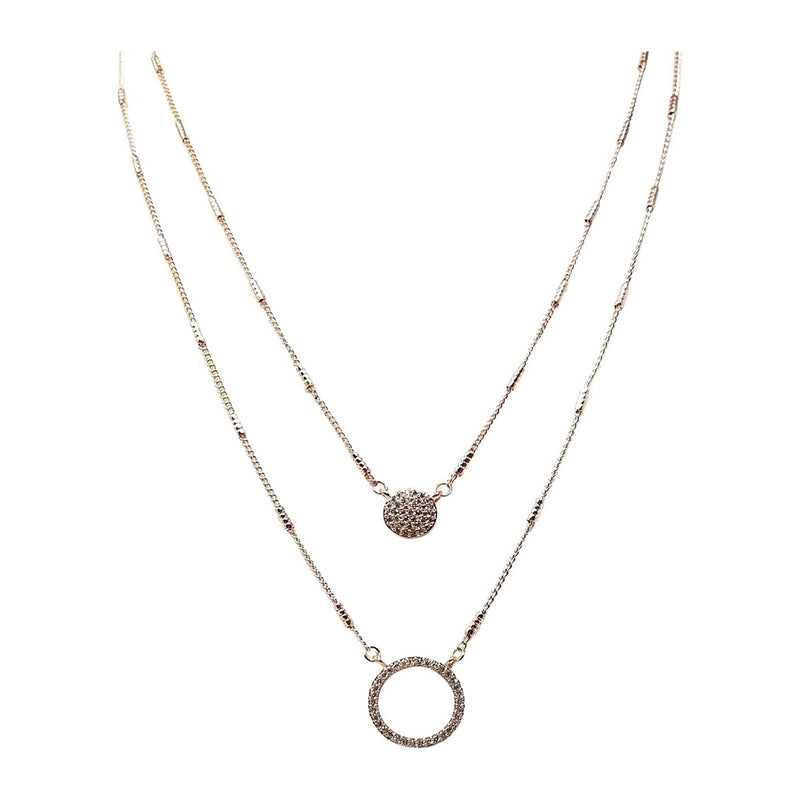 Circle Style Layered Necklace