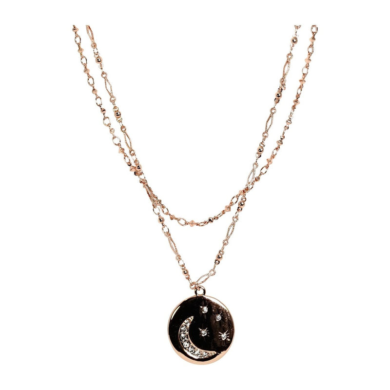 Moon & Stars Style Layered Necklace