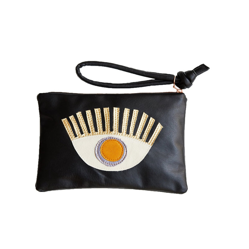 Conscious Eye Clutch Lavender Mustard eye