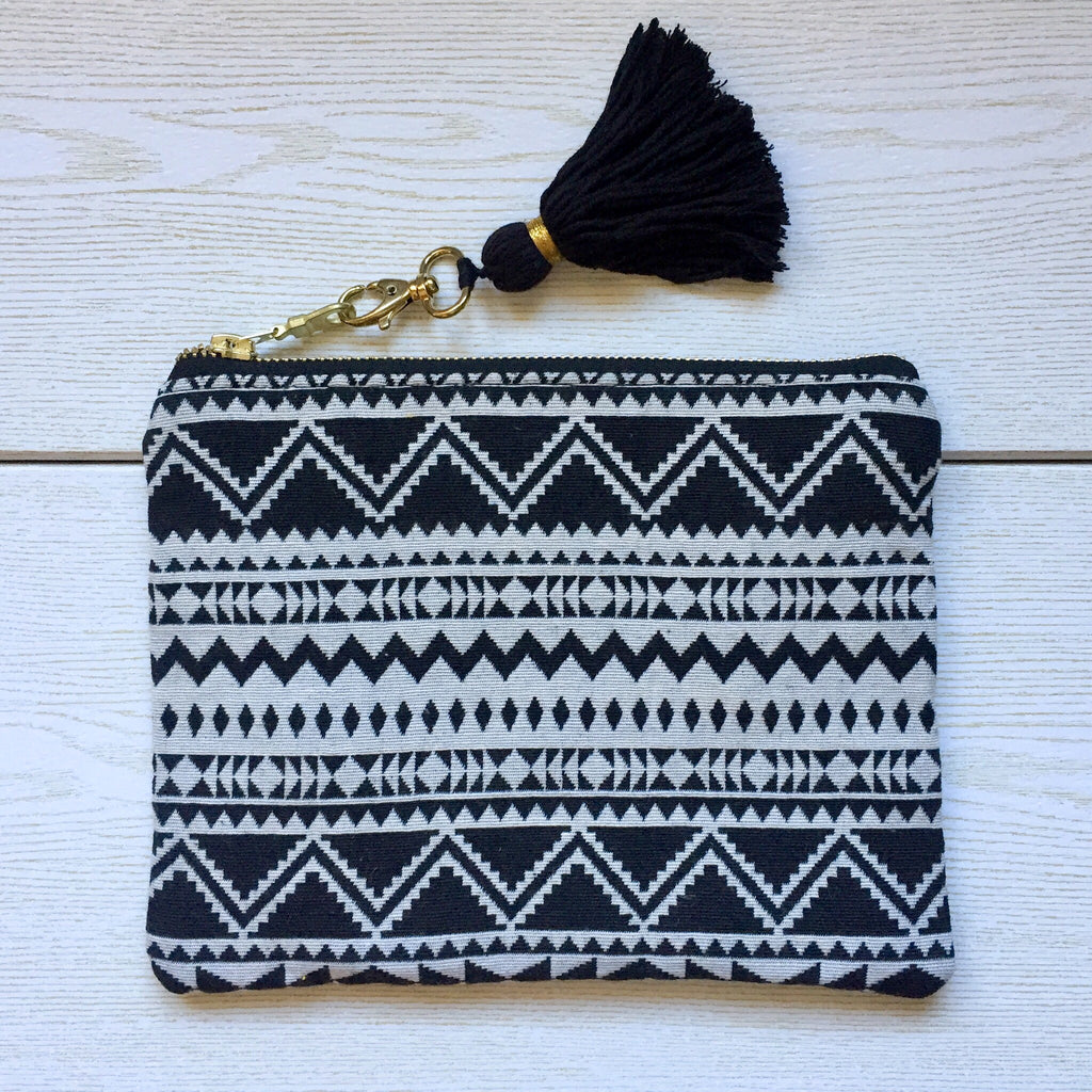 Tribal Boho Foldover Clutch - NINA B ROZE BOUTIQUE