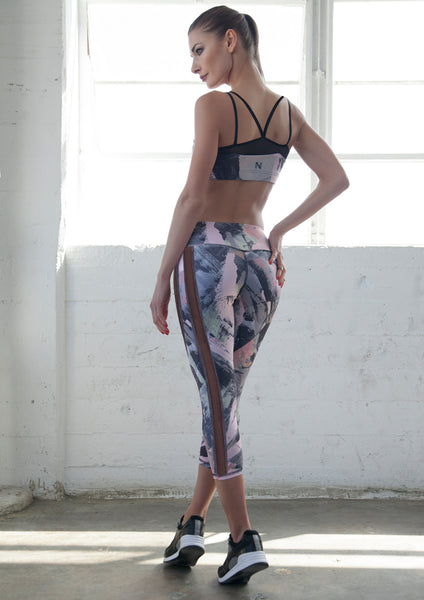 workout capris with mesh sale