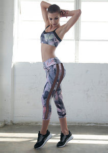 [women printed leggings] - NINA B ROZE active apparel