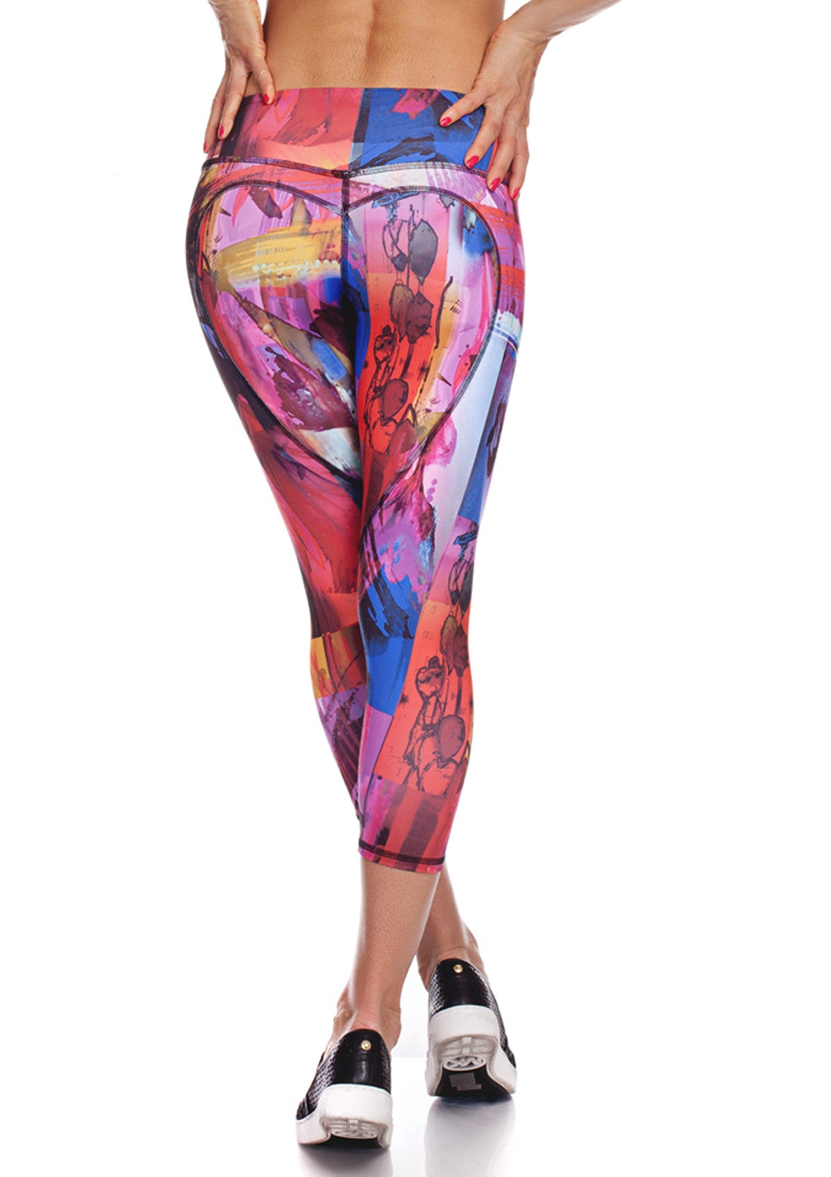 printed workout capris los angeles