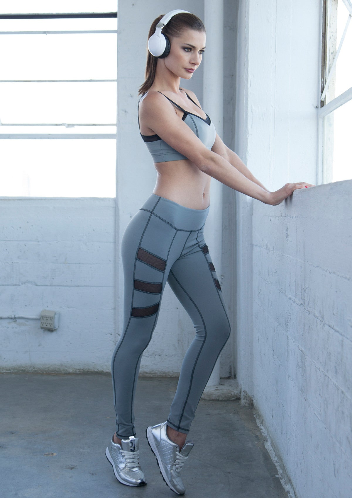 yoga leggings with mesh