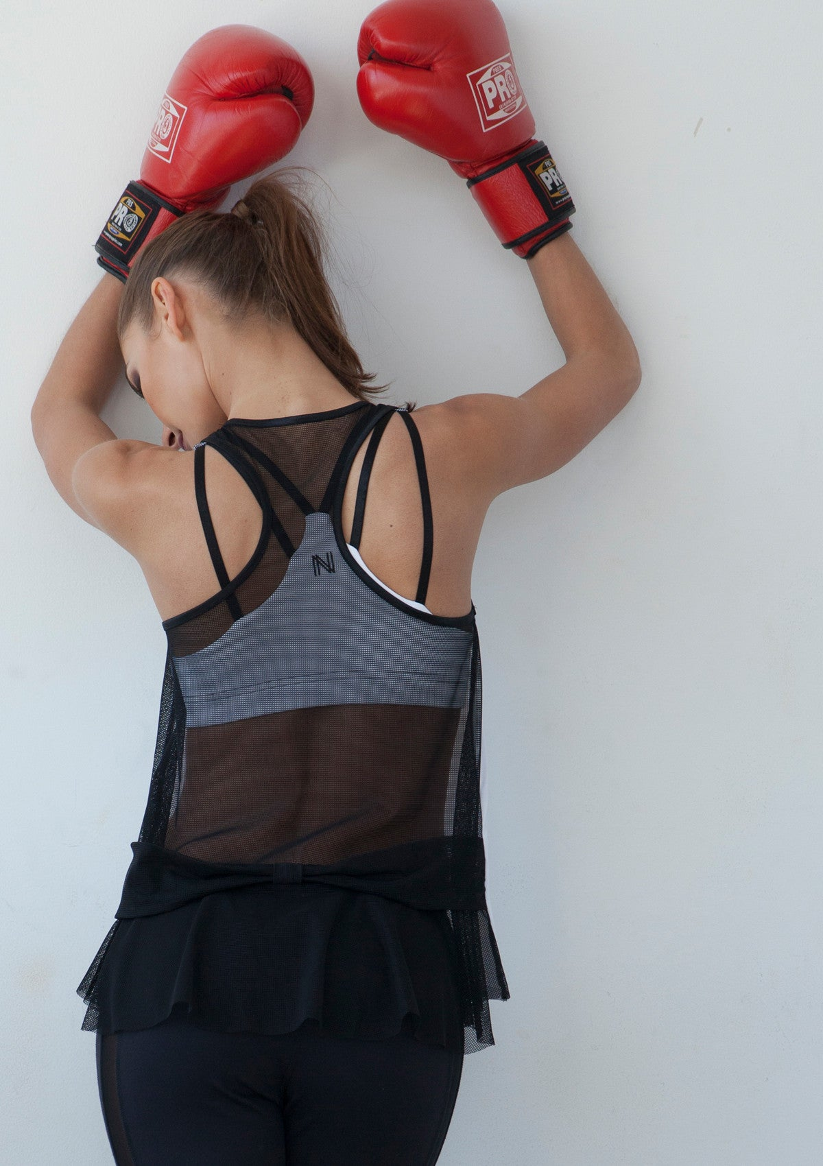 Black Mesh Workout Top