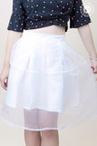 High Waist Overlay Skirt White