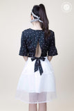 Back Bow Polka Dot Cropped Top
