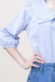 3/4 Sleeve Big Round Collar Shirt