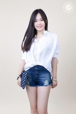 1/2 Sleeve Front Round Cut Shirt