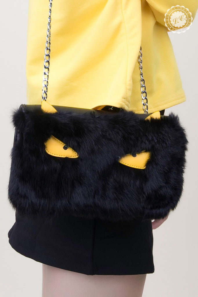 Evil Eye Fur Bag