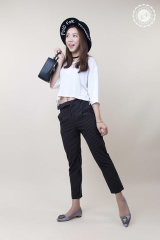 Ankle Length Stripe Pants