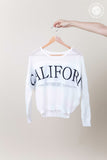 California Long Sleeve Knit Top