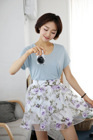Floral Illusion Skirt