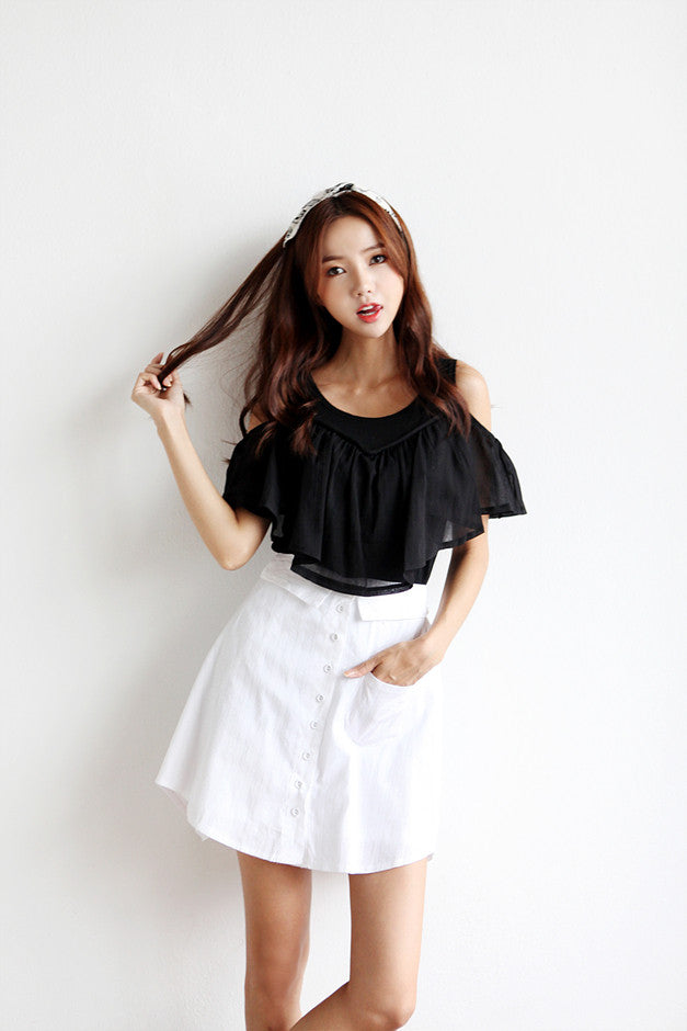 Big Front Ruffle T-shirt