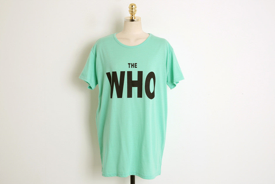 """Who"" T-Shirt Multi-Color"