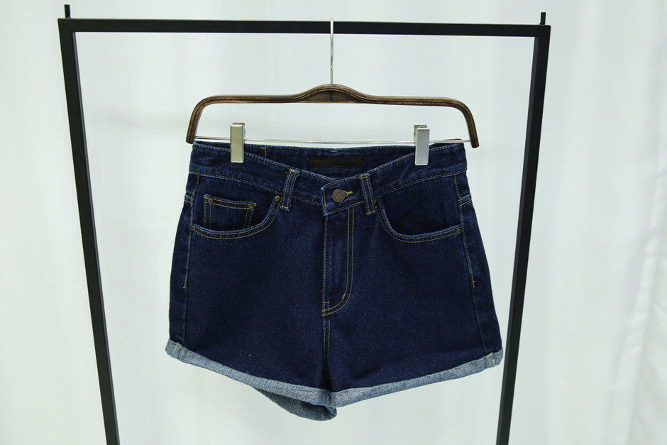 Rolled up High Waist Shorts