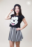 Cropped Mickey Head T-shirt