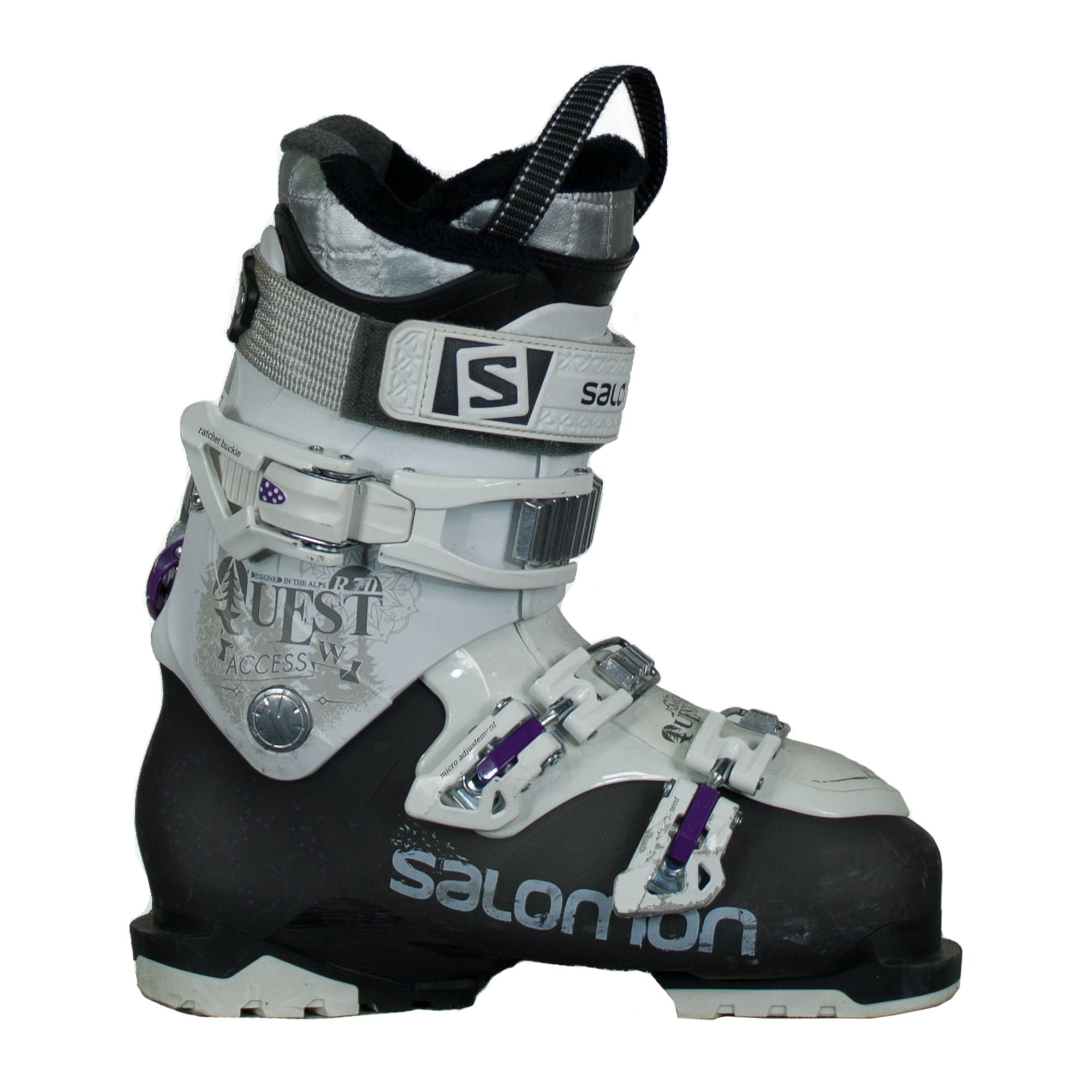 Used Ski Boots >> Used Salomon Quest Access R70 W Womens Ski Boots